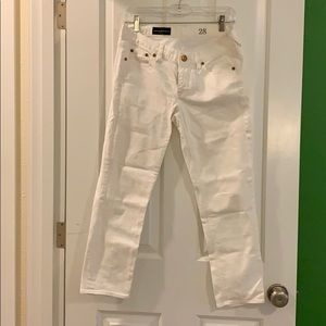 Jcrew cropped matchstick 28 white jeans